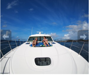 Motor yacht boat rental in Sapphire Marina, U.S. Virgin Islands
