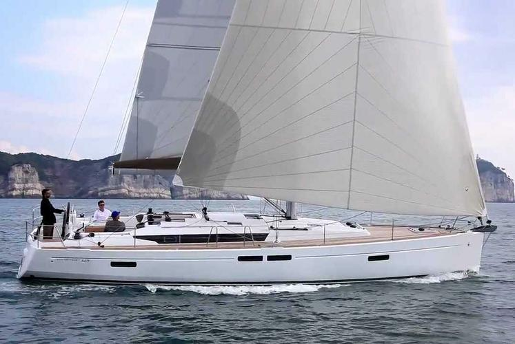 Watch the sunset from this beautiful Sun Odyssey Sailboat