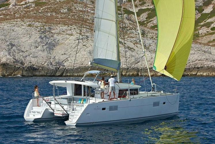Discover Athens surroundings on this 400 Lagoon boat