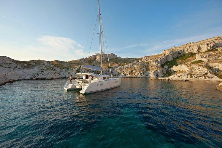 Catamaran boat rental in Athens, Greece