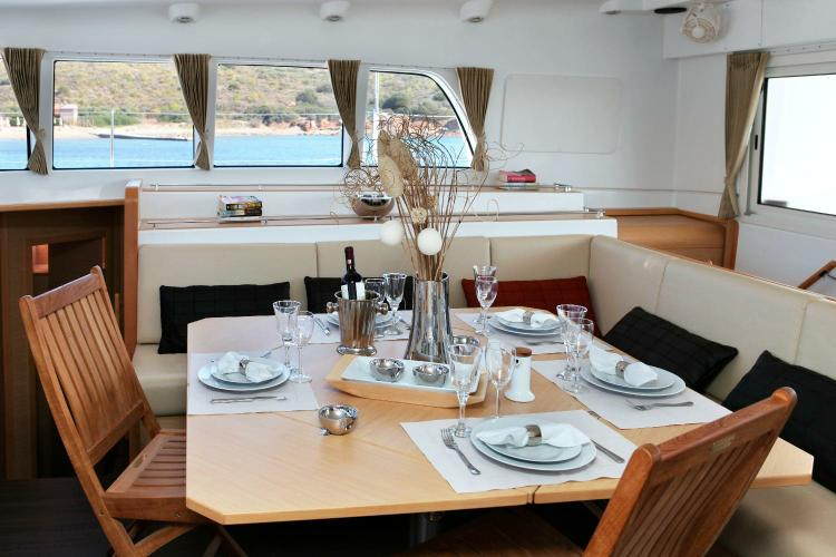 Discover Athens surroundings on this 500 Lagoon boat