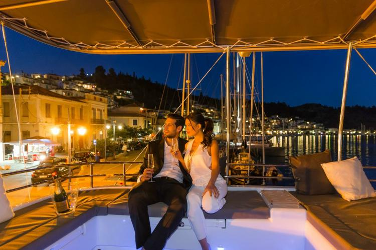 Discover Athens surroundings on this 560 Lagoon boat