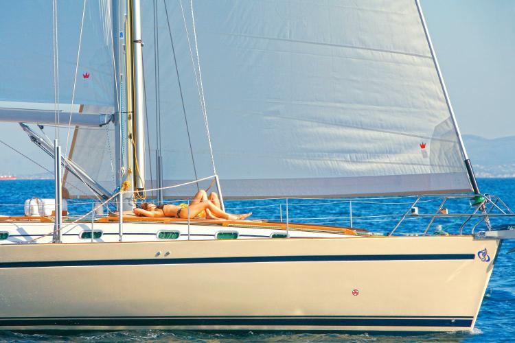 Discover Athens surroundings on this 56.1 Ocean Star boat