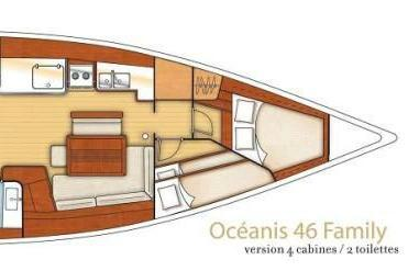 Discover Athens surroundings on this  Oceanis 46  Beneteau boat