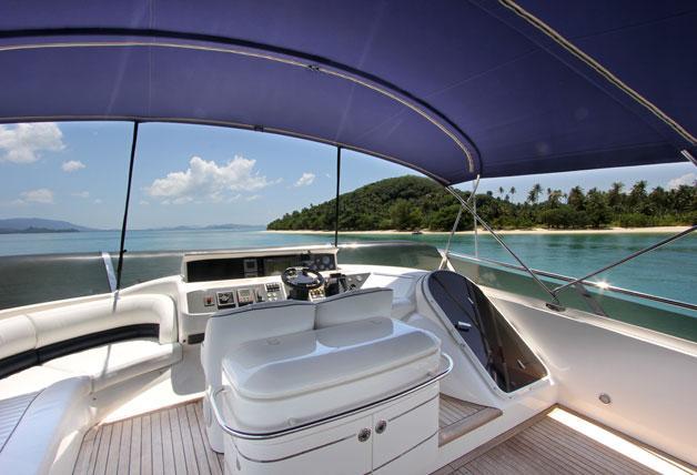 This 72.0' Princess Yachts  cand take up to 12 passengers around Phuket