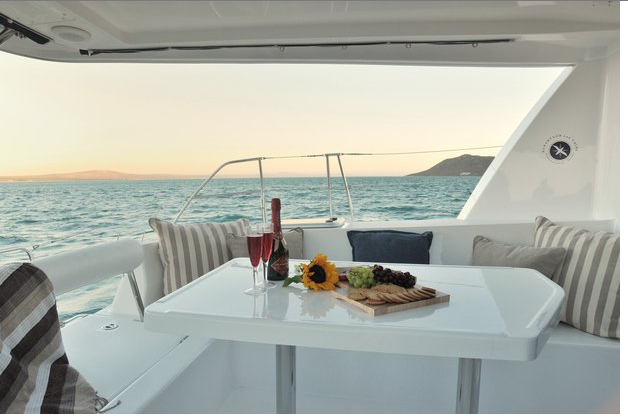 Up to 15 persons can enjoy a ride on this Catamaran boat