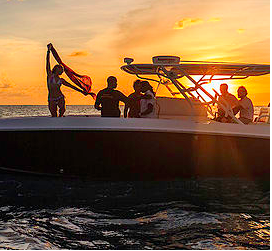 Center console boat rental in Simpson bay,