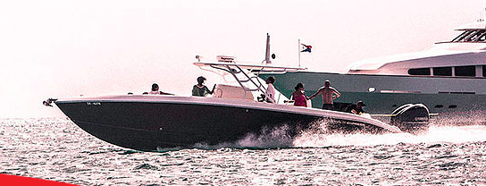 Up to 17 persons can enjoy a ride on this Center console boat
