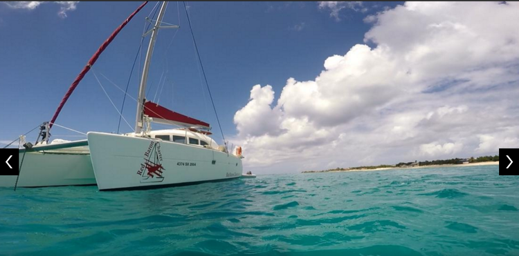 Discover St. Maarten surroundings on this Custom Lagoon boat