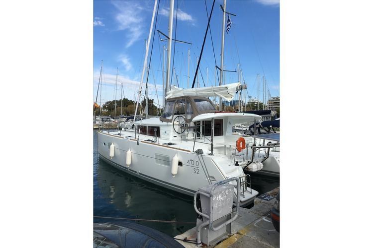 Catamaran boat rental in Alimos Marina,