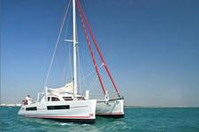 Enjoy sailing performance and relaxation aboard this catamaran
