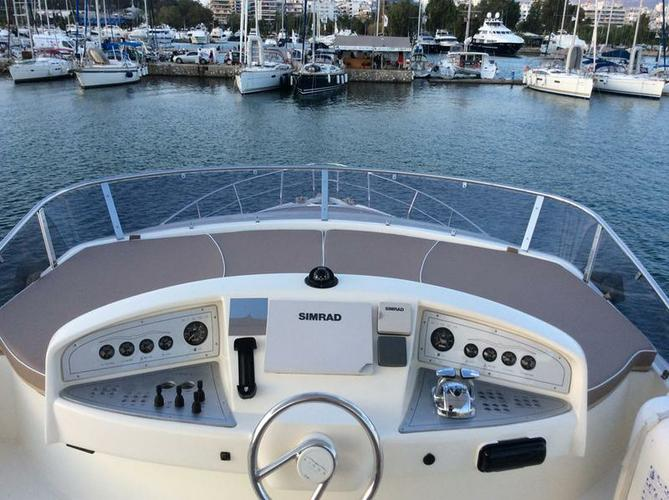 Discover Saronic Gulf surroundings on this Aicon 56 Aicon Yachts boat