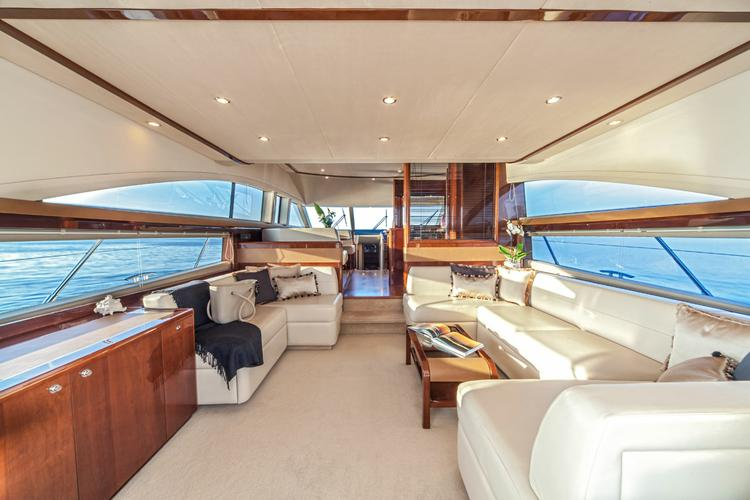 Discover  surroundings on this Princess 62 Fly Princess Yachts boat
