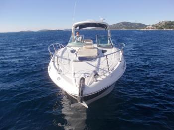 Discover Šibenik region surroundings on this Sea Ray 335 Sundancer Sea Ray Boats boat