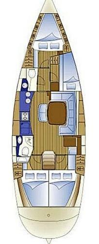 Discover Aegean surroundings on this Bavaria 44 Bavaria Yachtbau boat