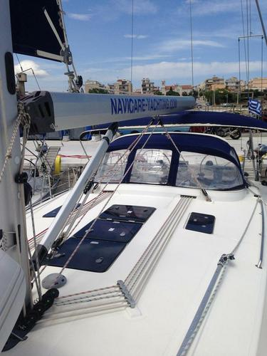 This 46.0' Bavaria Yachtbau cand take up to 10 passengers around Cyclades