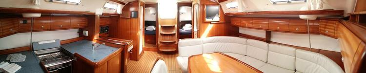 This 50.0' Bavaria Yachtbau cand take up to 11 passengers around Balearic Islands