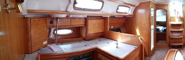 This 51.0' Bavaria Yachtbau cand take up to 11 passengers around Balearic Islands