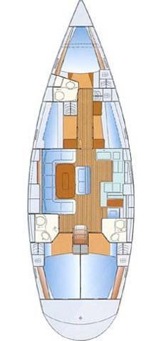 This 51.0' Bavaria Yachtbau cand take up to 11 passengers around Balearic Islands