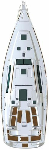 This 39.0' Bénéteau cand take up to 8 passengers around Aegean