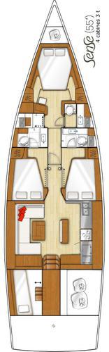 Discover Split region surroundings on this Beneteau Sense 55 Bénéteau boat
