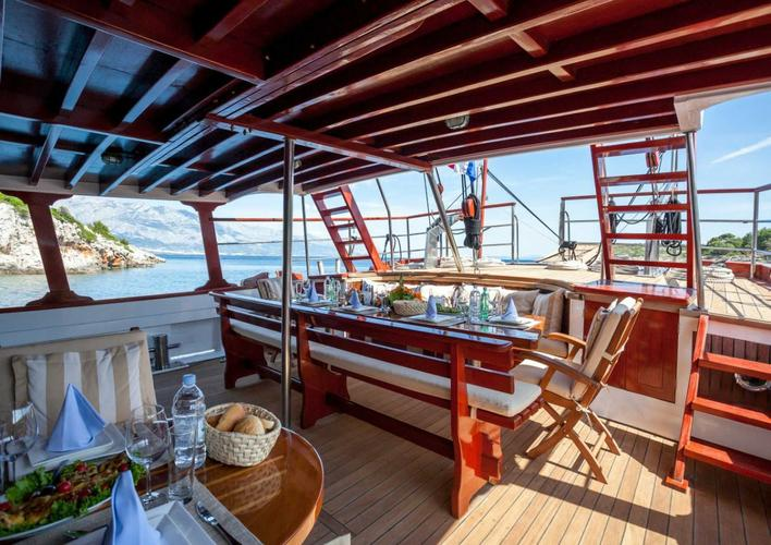 Discover Split region surroundings on this M/S Romanca Custom Made boat