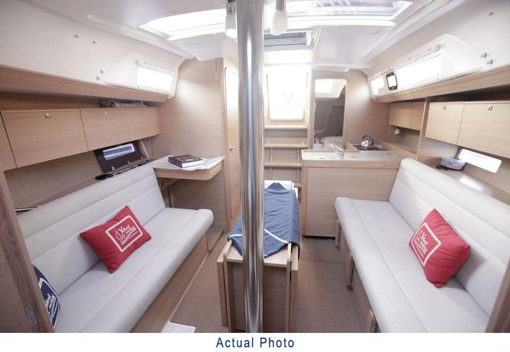 Discover Aegean surroundings on this Dufour 350 GL Dufour Yachts boat