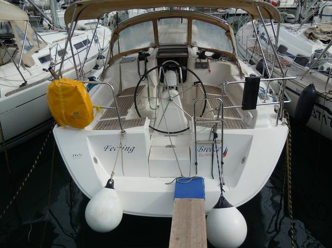 Discover Campania surroundings on this Dufour 365 GL Dufour Yachts boat