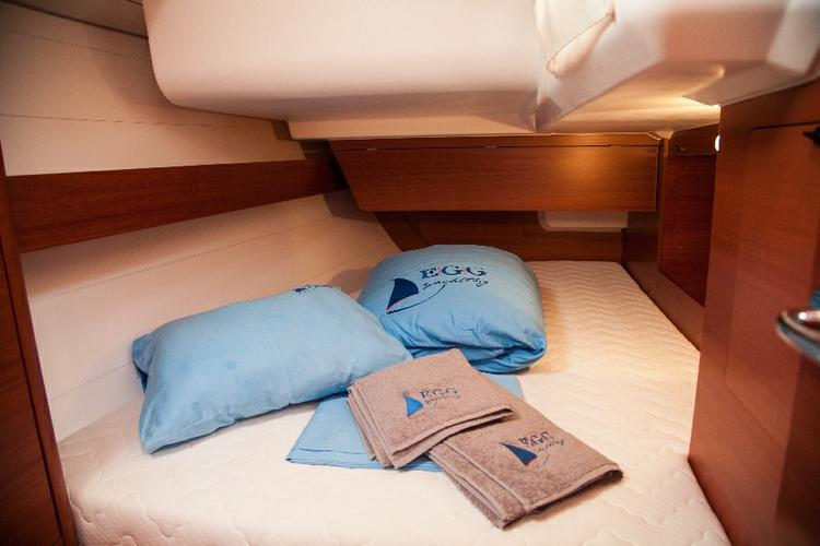 Discover Aegean surroundings on this Dufour 375 GL Dufour Yachts boat