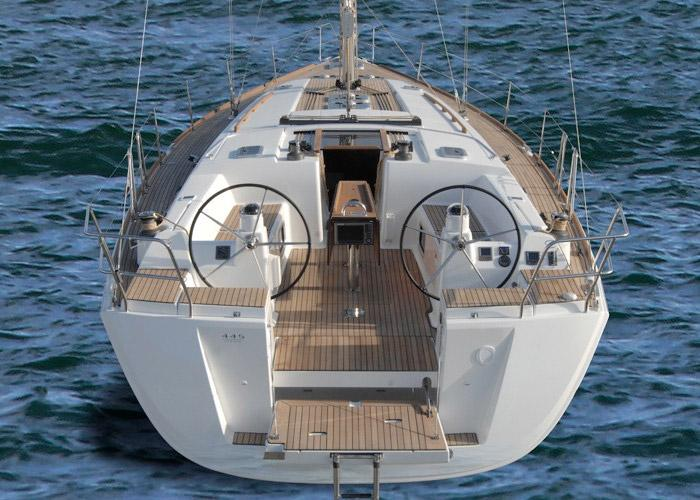 Discover Aegean surroundings on this Dufour 450 GL Dufour Yachts boat