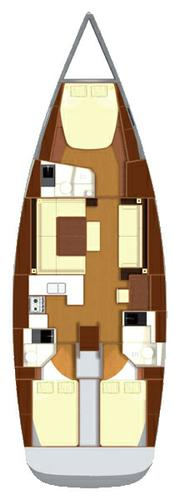 This 48.0' Dufour Yachts cand take up to 8 passengers around Azores