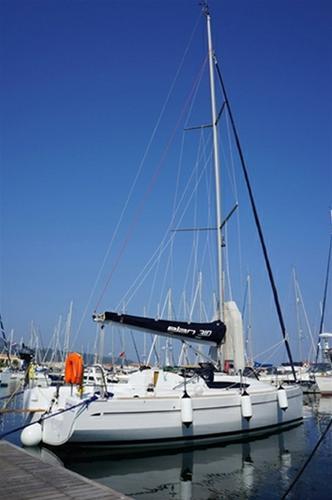 Discover Saronic Gulf surroundings on this Elan 310 Performance Elan Marine boat