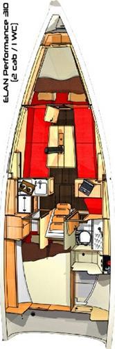This 33.0' Elan Marine cand take up to 6 passengers around Saronic Gulf