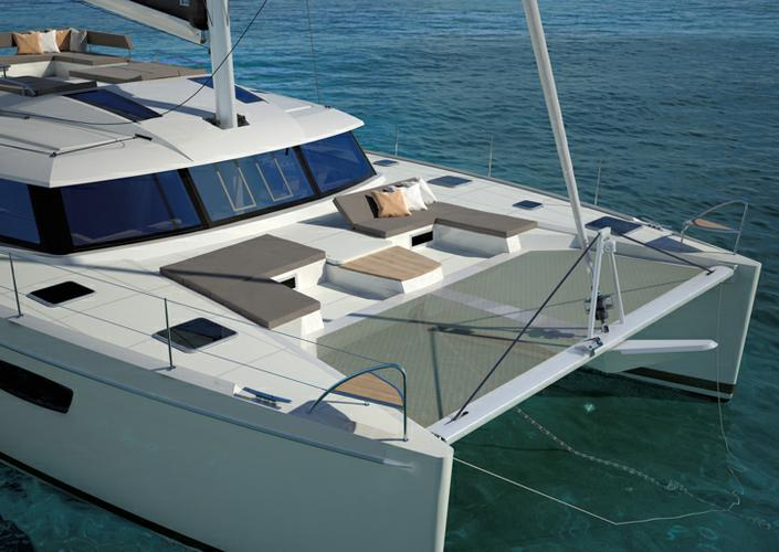 Up to 14 persons can enjoy a ride on this Catamaran boat