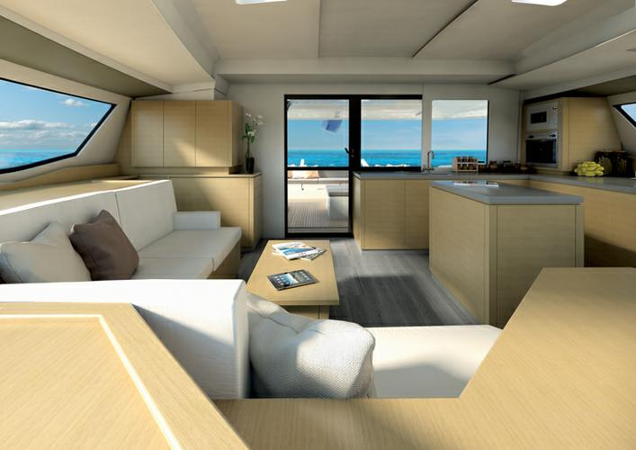 Discover British Virgin Islands surroundings on this Fountaine Pajot Saba 50 Fountaine Pajot boat
