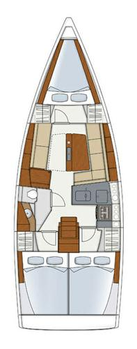 This 34.0' Hanse Yachts cand take up to 8 passengers around Split region