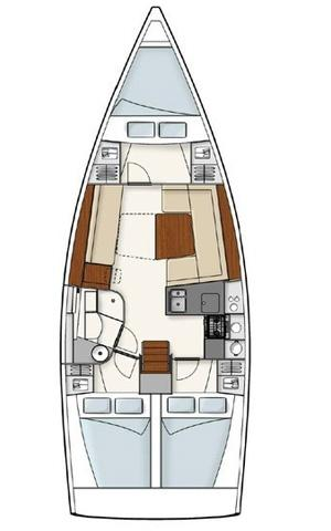 This 37.0' Hanse Yachts cand take up to 6 passengers around Šibenik region