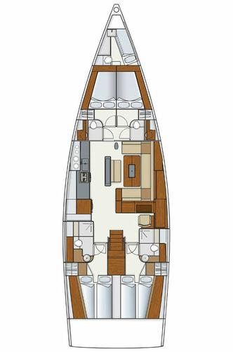 Discover Split region surroundings on this Hanse 575 Hanse Yachts boat