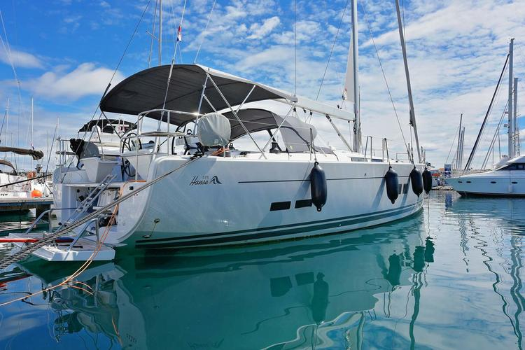 Discover Zadar region surroundings on this Hanse 575 Hanse Yachts boat