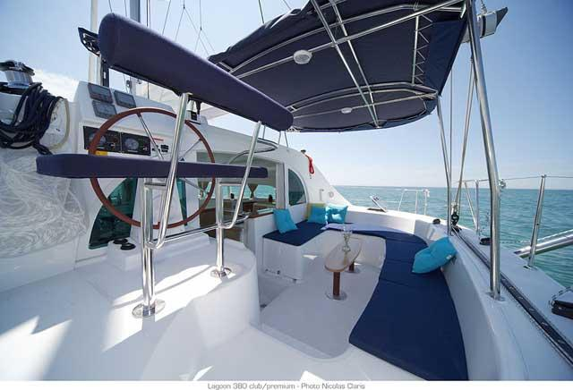 Catamaran boat rental in Marina Sangulin, Biograd, Croatia