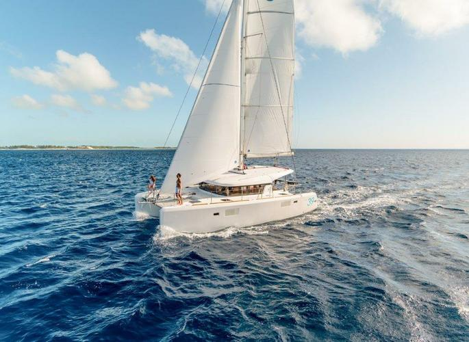 Sail the waters of British Virgin Islands on this comfortable L