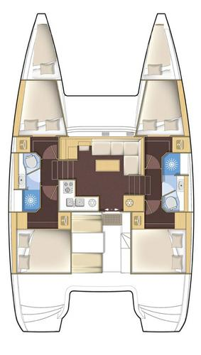Boat for rent Lagoon-Bénéteau 38.0 feet in Marina Mandalina, Sibenik,