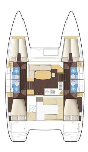 Catamaran boat rental in Marina Hramina, Murter,