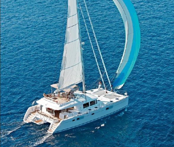 Catamaran boat rental in Aegean, Turkey