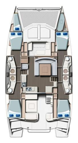 Catamaran boat rental in Marina Frapa, Rogoznica,