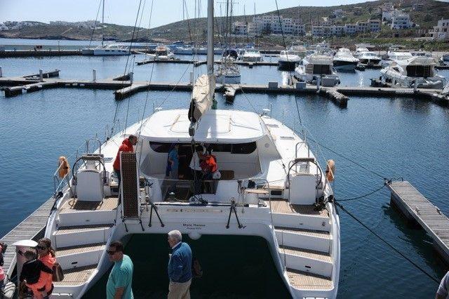 Discover Cyclades surroundings on this Nautitech 44 Nautitech Rochefort boat