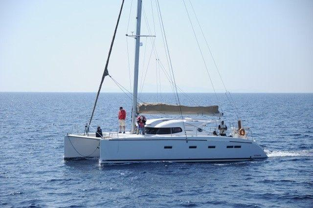 Boating is fun with a Catamaran in Cyclades
