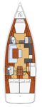 thumbnail-2 Bénéteau 46.0 feet, boat for rent in Split region, HR