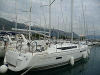 Sail Split region waters on a beautiful Jeanneau