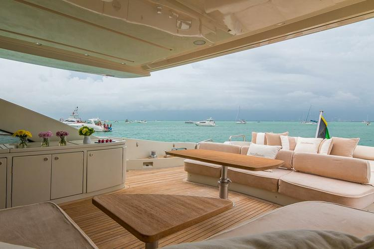 Motor yacht boat rental in Bayside Marina, Miami,